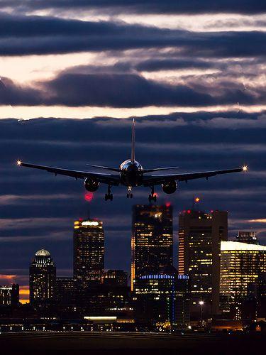 landing in boston. definitely one of the best and memorable skylines