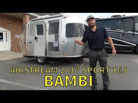 Walk Through 2017 Airstream Sport 16J Bambi Small Travel Trailer - YouTube