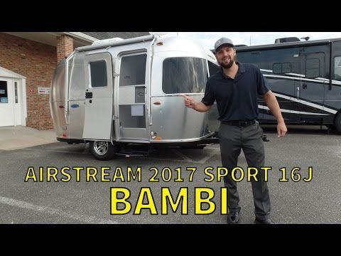 Walk Through 2017 Airstream Sport 16J Bambi Small Travel Trailer - YouTube