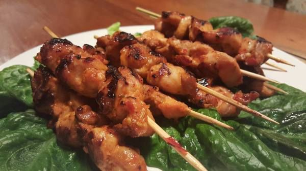 Lemongrass and Fennel Chicken Skewers