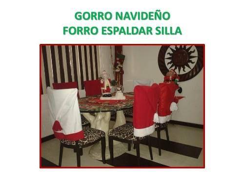 Gorro Navideño Forro Espaldar Sillas Comedor Decoracion - BsF 520,00