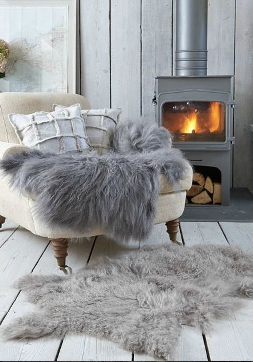 Adding a splash of comfort and design is always a wonderful way to get your home ready for fall. A neutral shag rug always makes a great addition to any room in your home. Throw a couple of logs on the fire while savoring a unique coffee creation and enjoy your time cozying up inside.