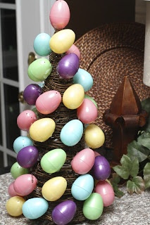 Easter Egg Topiary/ Use red for Valentine's Day