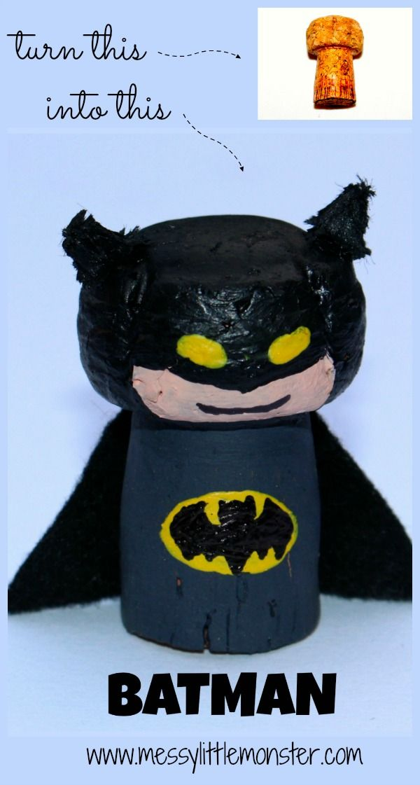 Messy Little Monster: Batman Figure : Cork Crafts