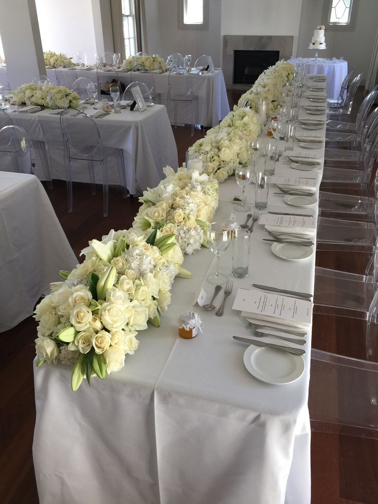 Wall of roses for the head table
