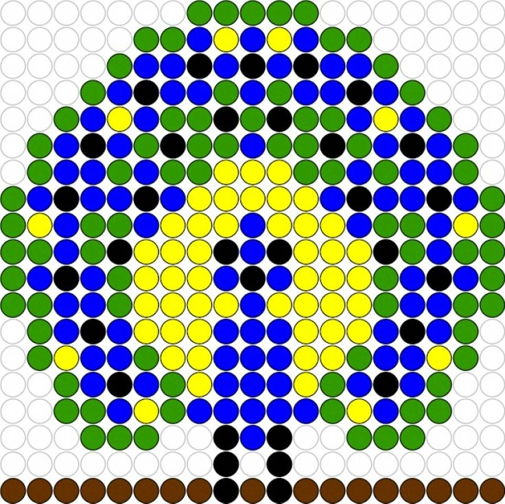Peacock hama perler beads pattern