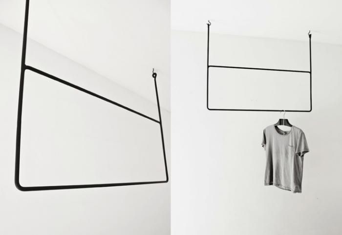 geometrical clothing rails designed by Swedish stylist and design blogger Annaleena Karlsson. Hand-forged from iron