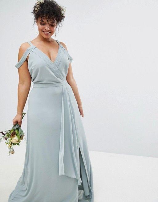 Plus Size Light Teal Bridesmaid Dresses