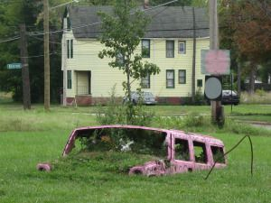 pink buried car heidelberg project