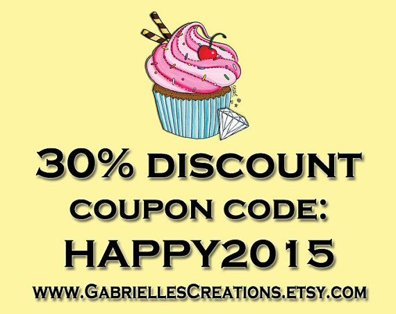 HUGE Discount Coupon Code for by GabriellesCreations on Etsy 30% #DISCOUNT #coupon #code 2015WISHES