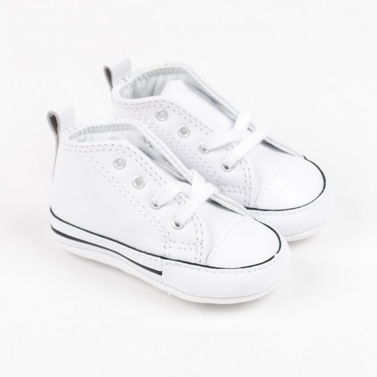 """Converse """"Chuck Taylor First Star"""" weiße Leder-Sneakers"""