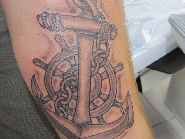 Vintage Anchor Tattoo