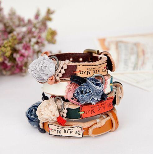 [바보사랑] 빈티지 패브릭꽃 가죽 팔찌 #팔찌 #장미 #꽃 #패브릭 #가죽 #악세서리 #패션팔찌 #Bracelet #Rose #Flower #Fabric #Leather #Accessory #FashionBracelets