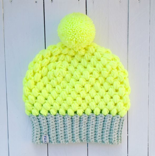 Beaniemützen - Beanie Longbeanie Mütze Häkelmütze Pom Pom Vegan - ein Designerstück von kymastyl bei DaWanda