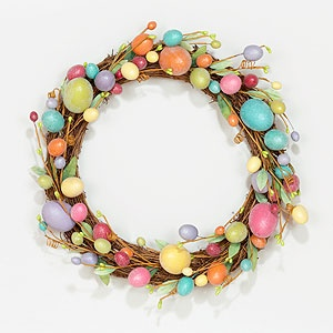 Decorative Sugared Egg Wreath at Cost Plus World Market