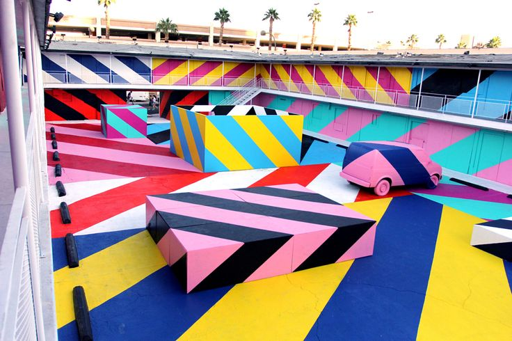 Maser Motel--takeover of a vacant motel in Vegas by Irish street artist Maser