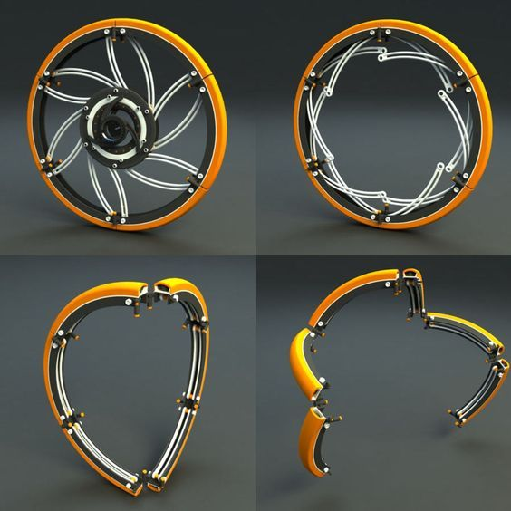 Collapsing Bicycle Wheels