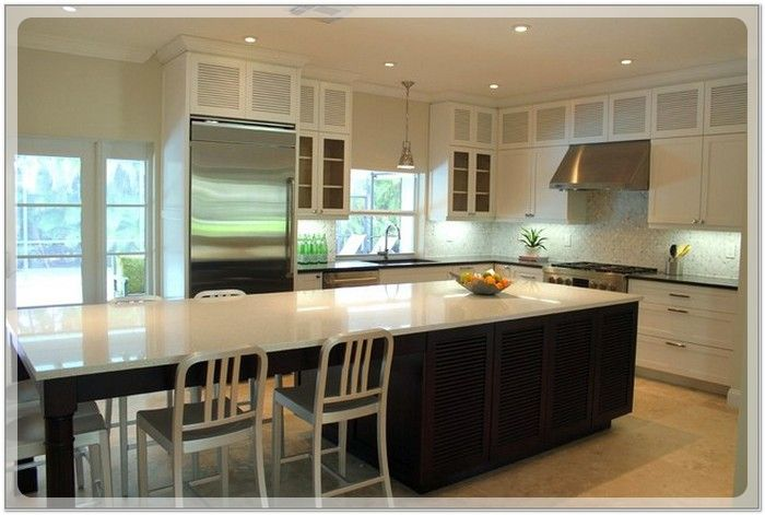 Long Narrow Kitchen Island With Seating