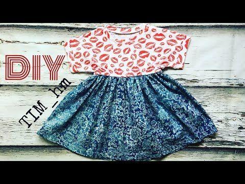 МК Шьем платье из трикотажа и джинсовой ткани |TIM_hm| - YouTube