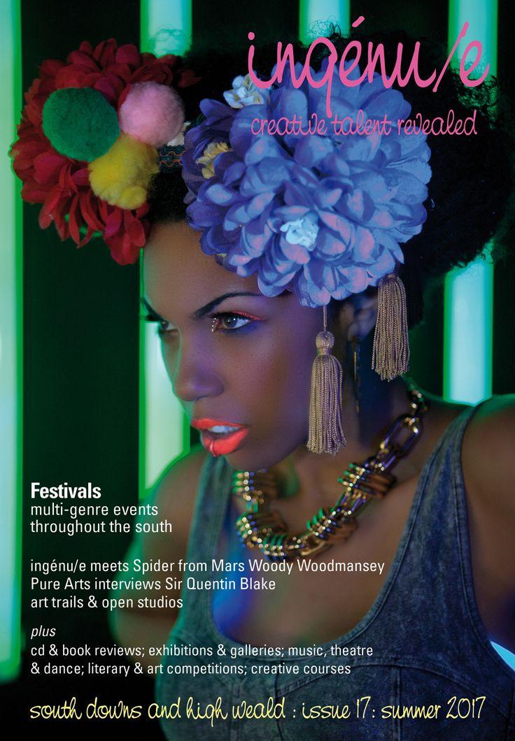 Front cover of ingenue magazine issue 17. Pictured: musician Eva Lazarus.
