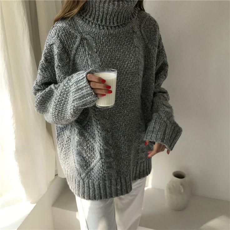 レディースファッション通販レディースニットセーター ハイネックセーター秋冬 長袖 暖かい