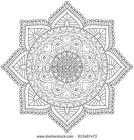 Flower Mandala Vintage Decorative Elements Oriental Pattern Vector Illustration Islam Arabic PatternFlower MandalaColoring Book