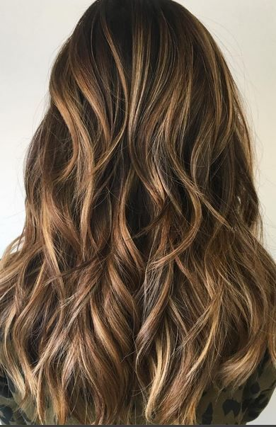 sandy brunette honey highlights