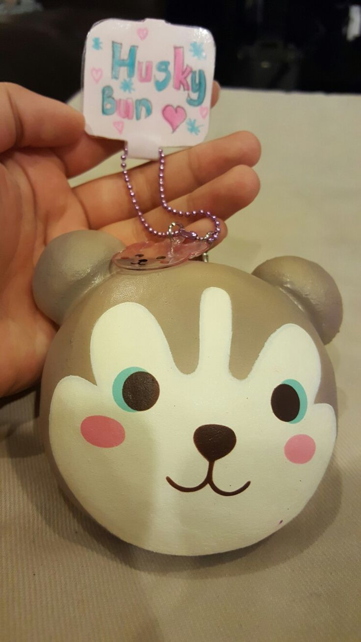 Homemade Squishy Tags : Really cute husky bun with homemade tag Squishies Pinterest