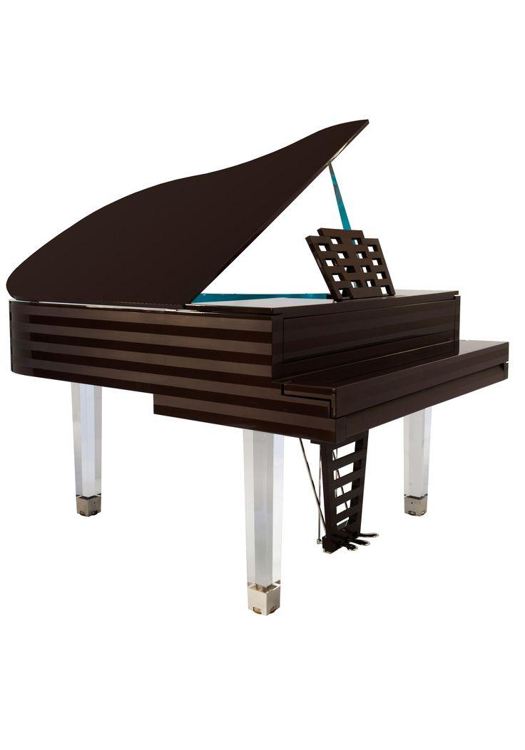 Pedales Du Piano Pleyel Parallele Turquoise Et Chocolat Design By Hilton McConnico