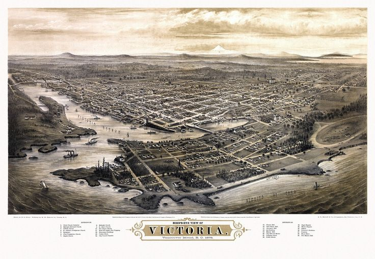 Old Map of Victoria 1878 Poster