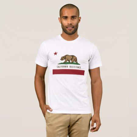 California Resistance T-Shirt (w/o Gov. quote) - click/tap to personalize and buy