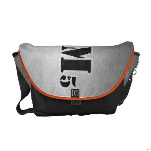 Stenciled Messenger Bag