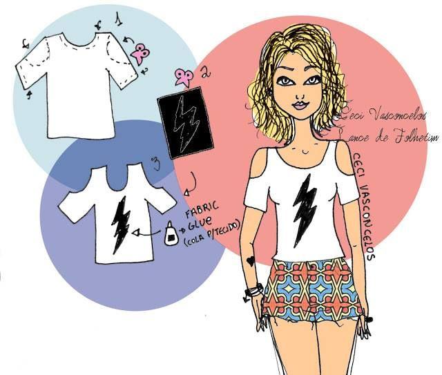 30 Sugestões e 5 idéias para Customizar Camisetas | SOS Solteiros