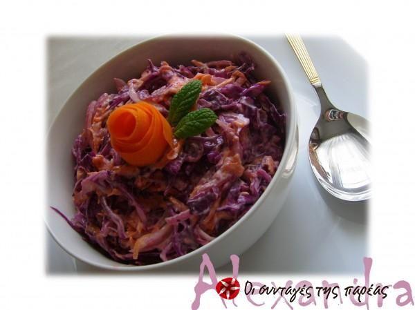 Εύκολη Σαλάτα Coleslaw #sintagespareas #coleslaw #salata