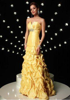 asymétrique ramasser jupe longues robes de bal 2012