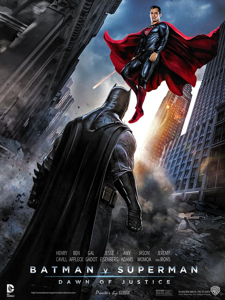 Batman v Superman : Dawn of Justice Poster by GOXIII.deviantart.com on @DeviantArt