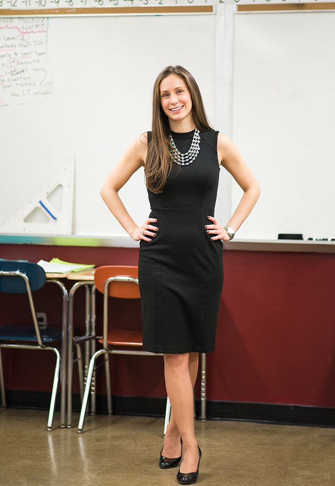 "See how this math teacher masters ""understated elegance."" #MyPowerOutfit www.levo.com #levoleague"