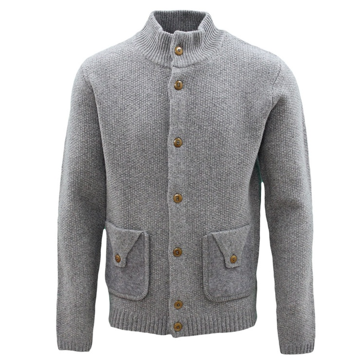 Folk Button Up Cardigan Grey