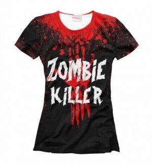ZOMBIE KILLER Damska Koszulka Tshirt Full Print