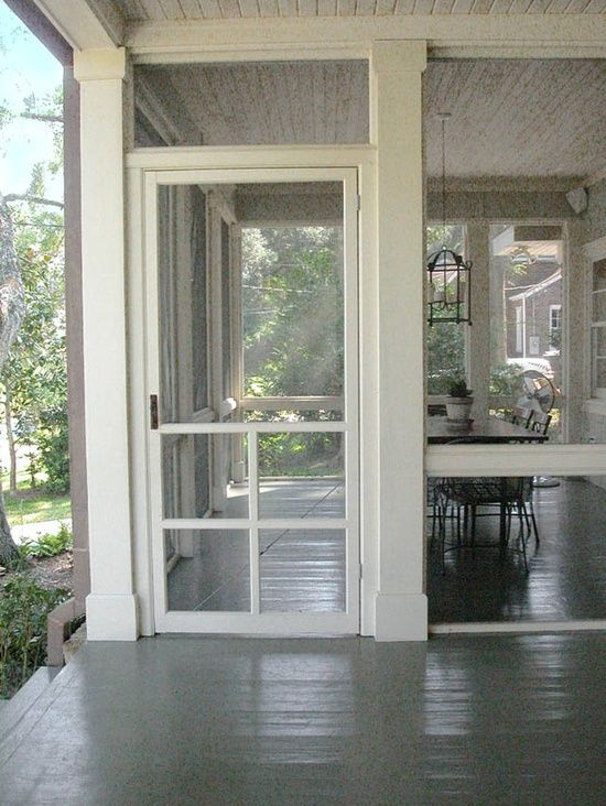screened in porch.....perfect for my first cup of morning coffee