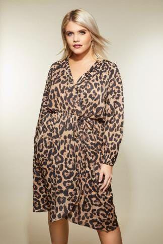 AX PARIS CURVE Leopard Print Wrap Dress in 2019 | Plus Size Clothing ...