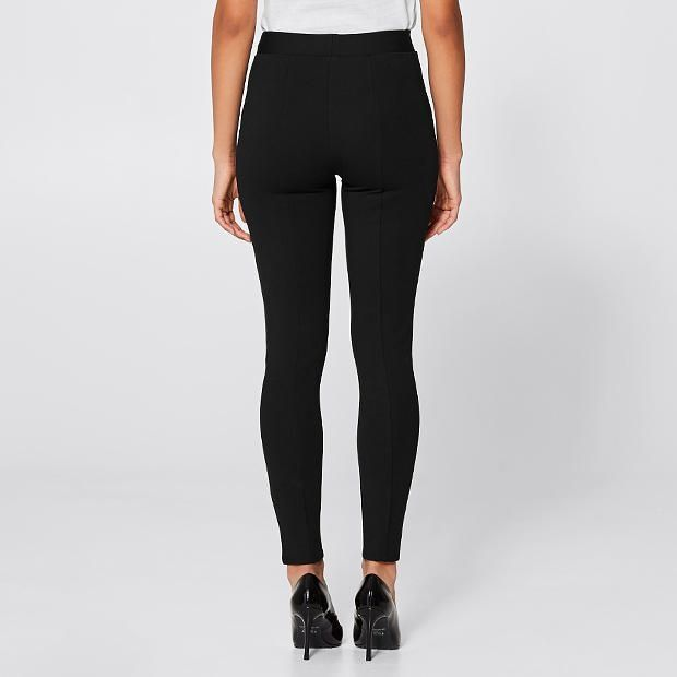 Dannii Minogue Petites Audrey Ponte Leggings - Black