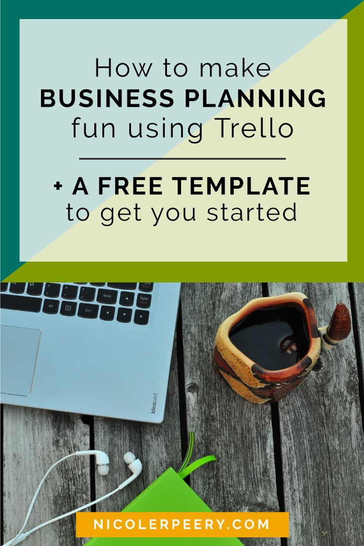 Traditional business plans are boring for visual types. Click through to learn how to make a FUN business plan using Trello.  via @nicolerpeery