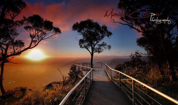 Sunrise from Boroko Lookout, Mount Difficult - Grampians National Park, Halls Gap, Victoria, Australia -  Purchased images are un-watermarked.
