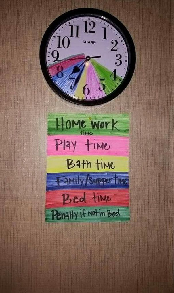 Color Their Routine And Teach Time Management *** The Best Parenting Hacks Ever