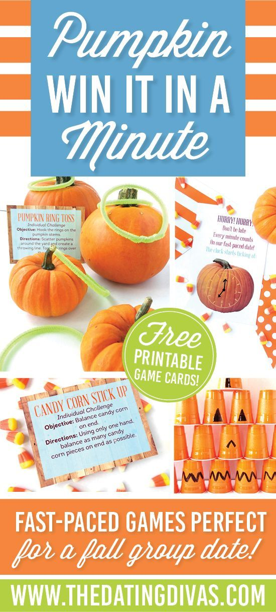 Fun and easy to prep win it in a minute games for fall parties! www.TheDatingDivas.com