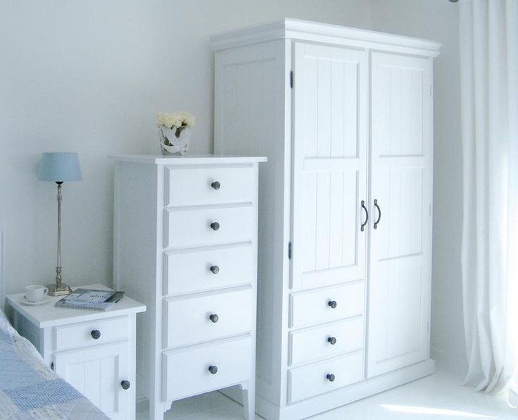 Manhattan double wardrobe with drawers new england style for Home styles bedroom furniture