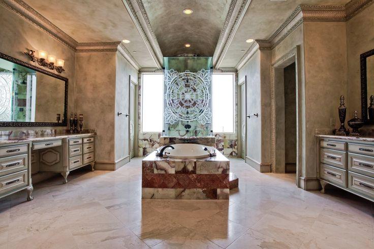 Mediterranean Style Spa Bathroom Large Bathroom Interior →  https://wp.me/p8owWu-5hs