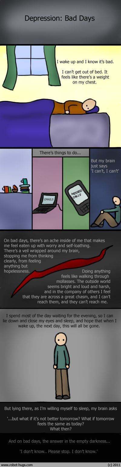 What a bad day feels like to people living with depression.