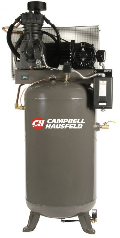 Campbell Hausfeld CE7050FP 230V 7.5HP Air Compressor with 80 Gallon Vertical Tan Air Compressors Stationary Electric